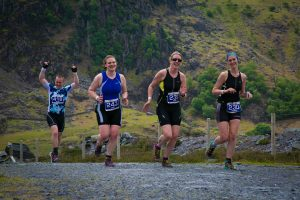 Sunny conditions did not deter these runners. Pics by J Robertson, Always Aim High Events