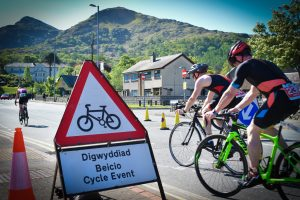 The cycling stage in action Pics by J Robertson, Always Aim High Events