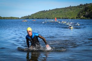 Making a splash in the Skateman Triathlon Pics by J Robertson, Always Aim High Events