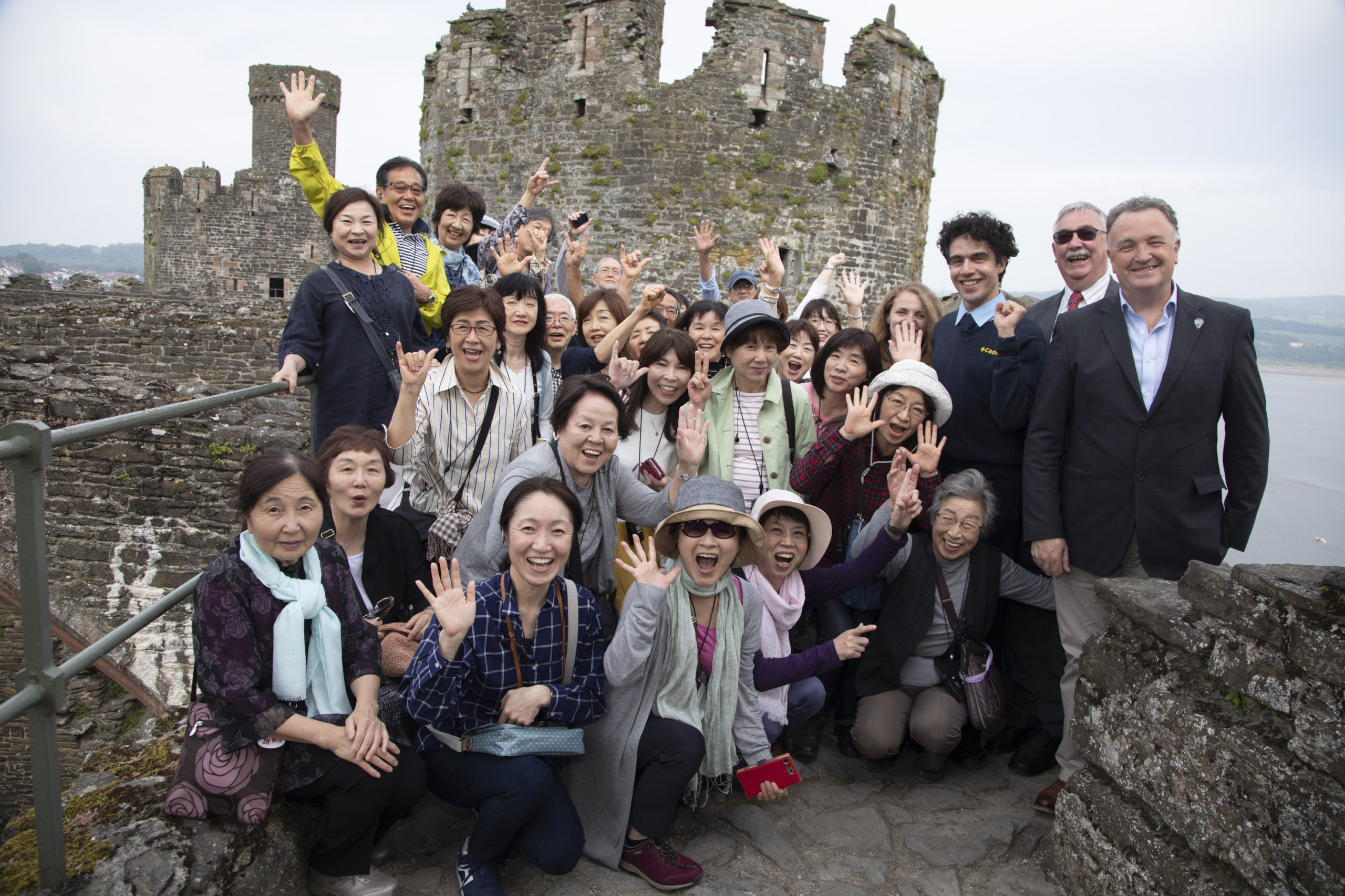 Historic agreement to twin ancient castles in North Wales and Japan