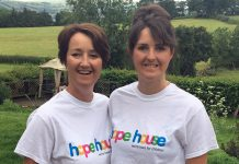 Llinos and Ceri who will be tackling the Rotary Across Wales Challenge for Hope House.