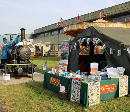Talyllyn Railway's stand with locomotive No.6 'Douglas' just before the gates opened for the RAF Cosford Air Show. (Photo: Ian Drummond)