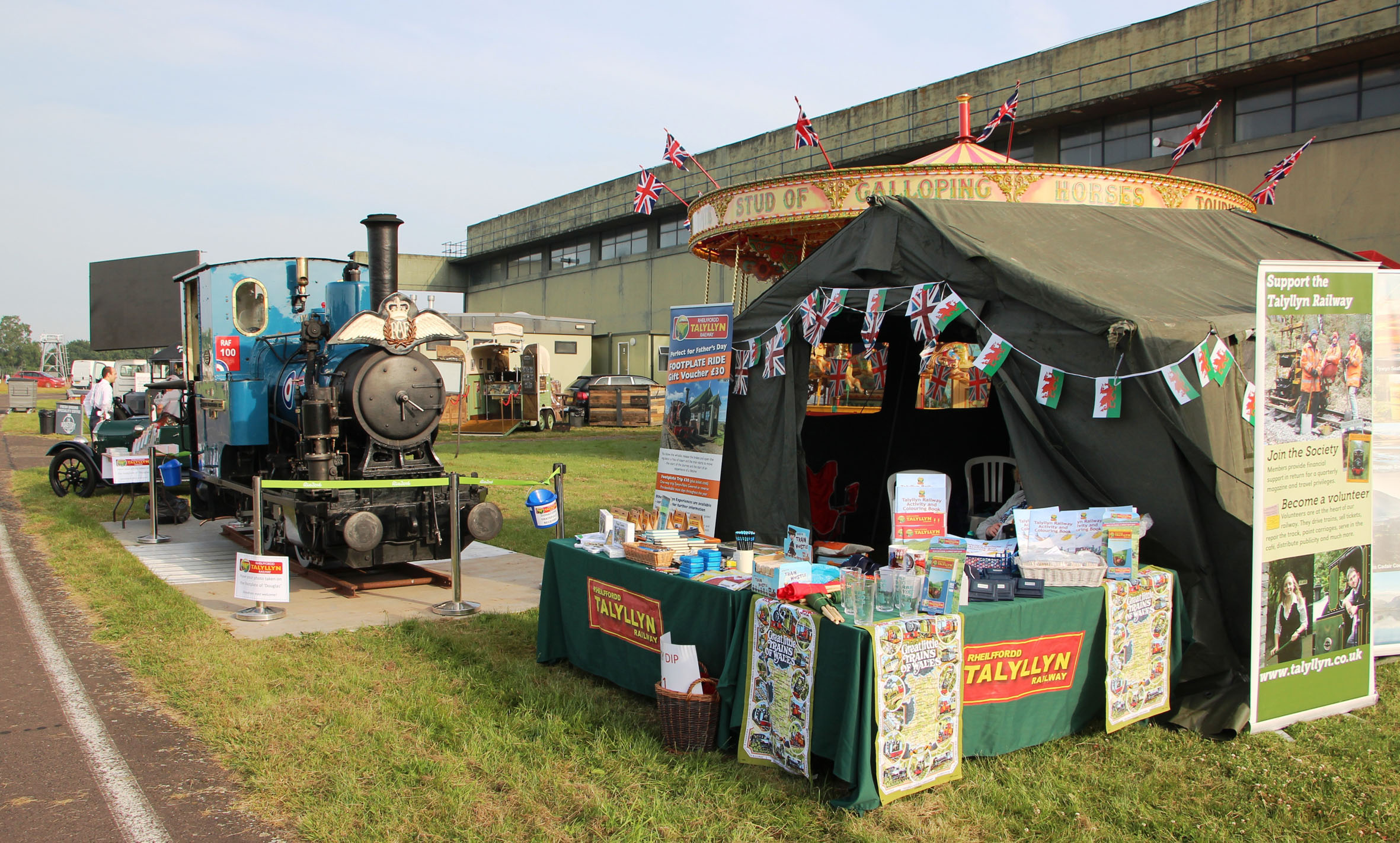 Talyllyn locomotive stars at RAF Cosford Air Show