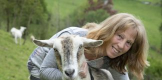 Carol Allen who makes soaps and skin care products from goat milk.