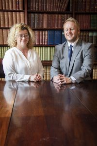 Gamlins solicitors, Rhyl; Pictured are Rachel Wynn Jones and Ron Davison.