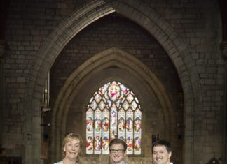 Pictured is Artistic director Ann Atkinson with Brothers Jonathan and Robert Guy.