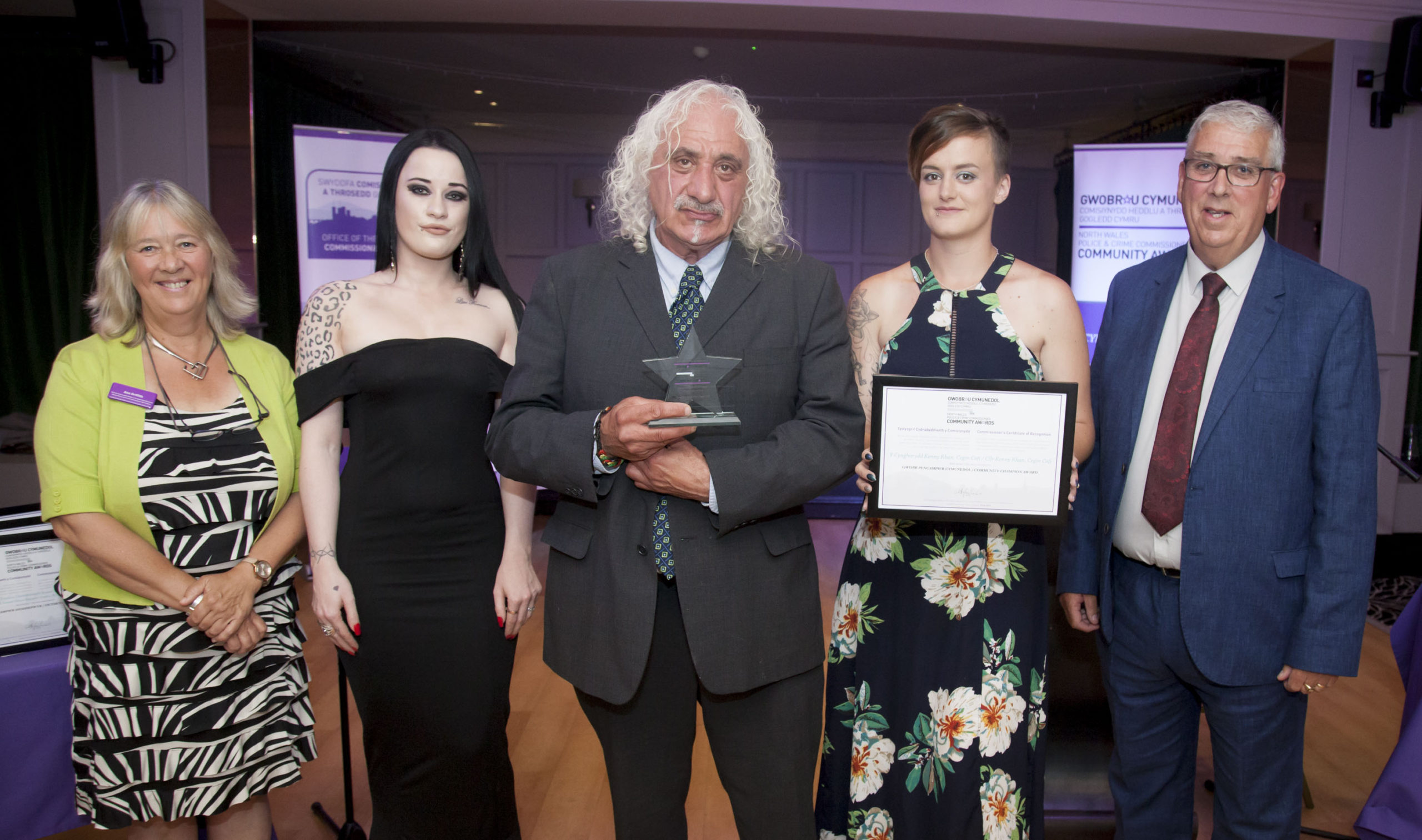 North Wales police boss honours community hero who turned his back on life of crime