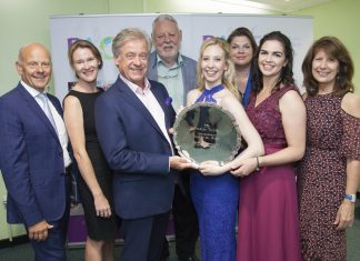 Pendine Arts and Community Trust sponsor the vocal finalists at the Llangollen International Eisteddfod. Pictured: Winner Charlotte Hoather from Winsford in Cheshire with the award along with Pendine's Mario Kreft, Musician in residence at Caernarfon's Pendine residential care home Nia Davies Williams, Tony Hayes who donated the trophy, President of the Eisteddfod Terry Waite, Sarah Edwards - Aritst in residence at Pendine, Runner up Rachel Marsh and Pendine's Gill Kreft