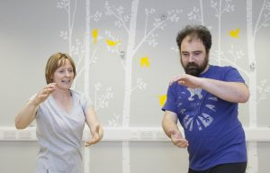Paul Williams from Bagillt suffers ill health and benefits from Tai Chi classes in Rhyl City Strategy Centre. Pictured Paul Williams in one of his Tai Chi classes with instructor Sue Edwards