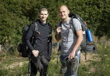 Pictured are Rob Challenger and Ashley Dawson from Village Bakery who will be walking the Anglesey Coastal Path.