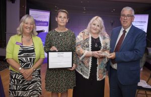 Pictured presenting the award for Anti Slavery Champion is North Wales Police and Crime Commissioner Arfon Jones with, from left, Deputy Commissioner Ann Griffith, Police Sergeant Zoie Dunkerley and award winner Sian Humphreys.