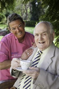 Bill Evans with senior care practitioner Mandy Williams