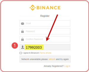 Binance trading account