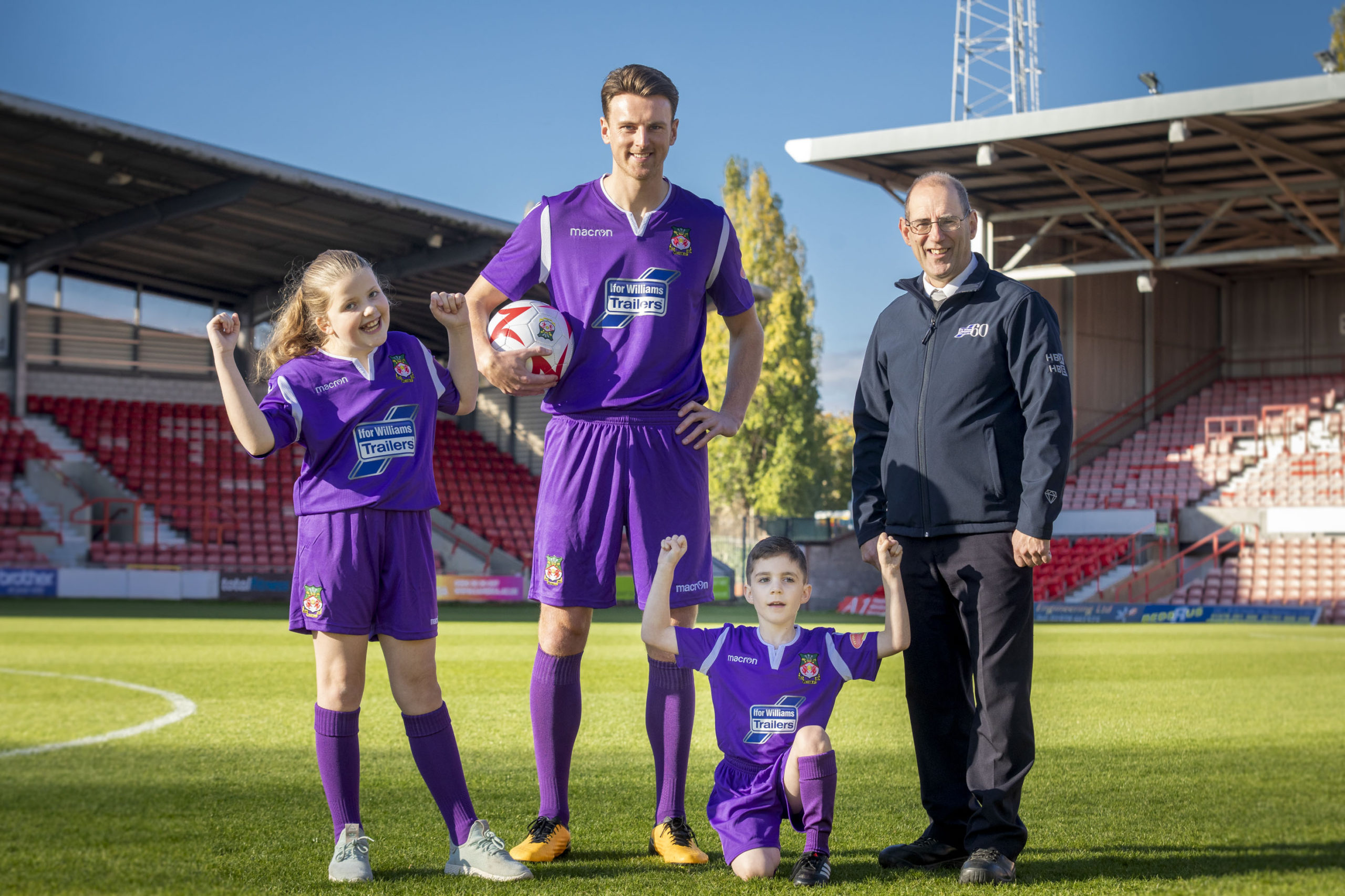 Wrexham fan Russell hopes for purple patch in form with new kit