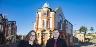 Sara Lloyd Evans and Shaun Hughes of law firm Swayne Johnson who have just opened their first office on Anglesey in Menai Bridge.