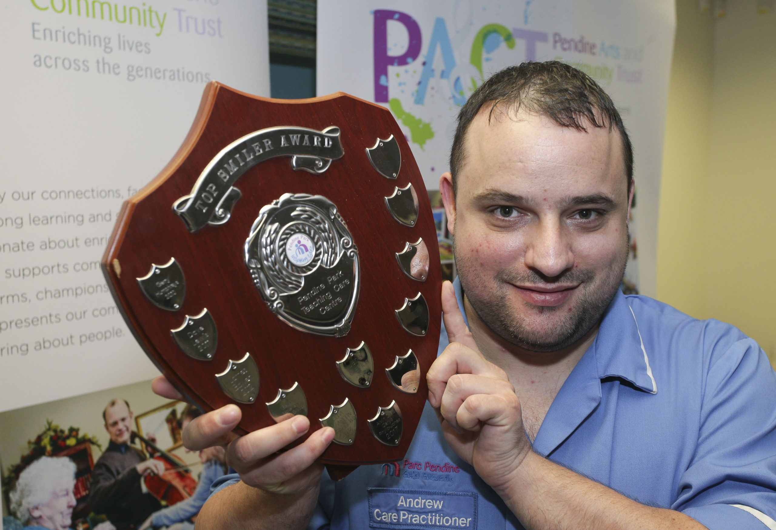 Gwynedd care worker Andrew honoured for going the extra smile