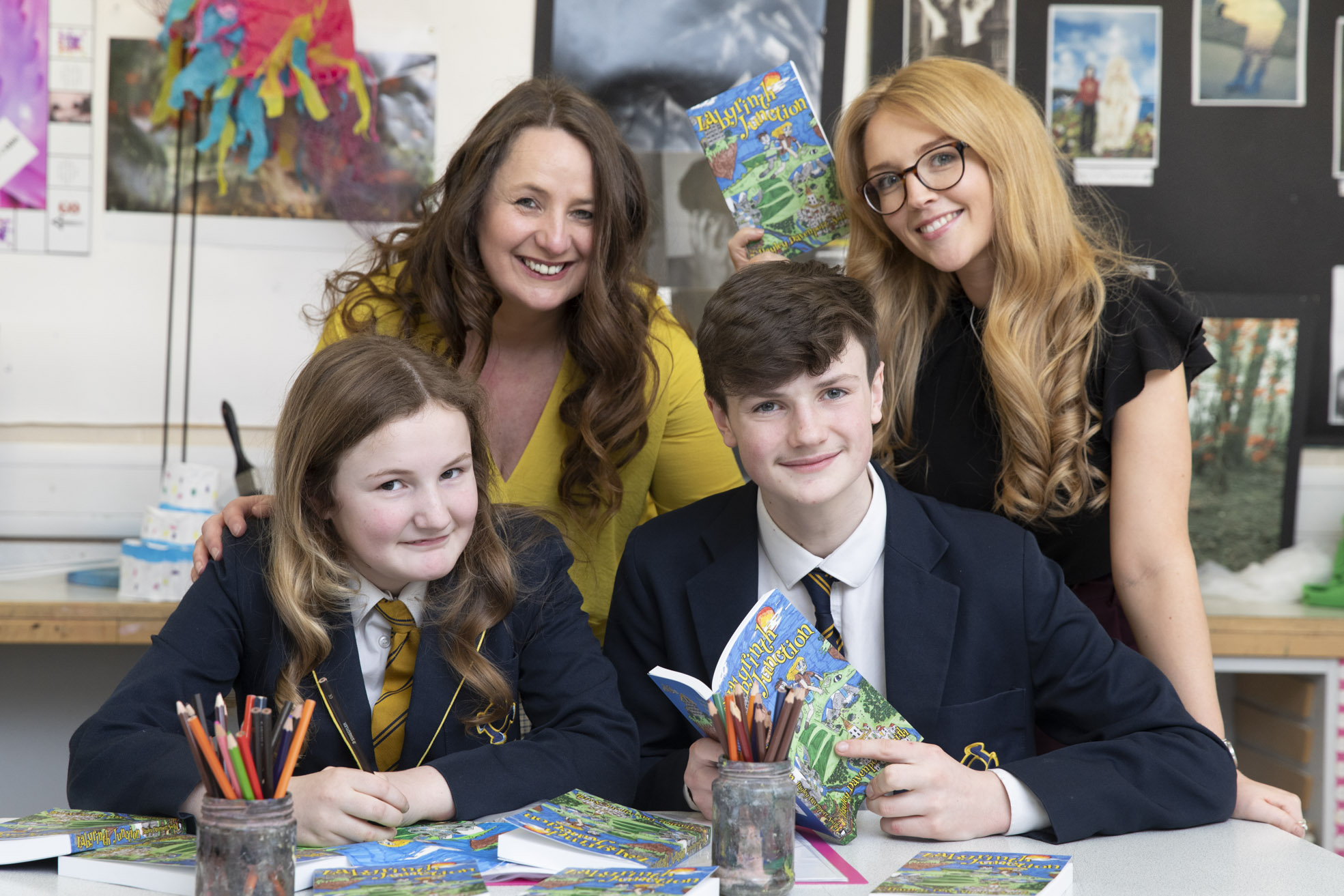 Talented schoolgirl artist brings her author mum's characters to life
