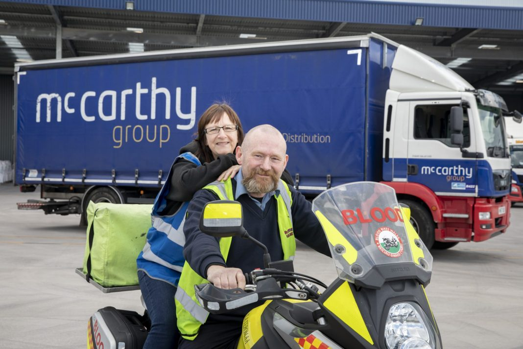 Truck driver Phil puts motoring skills to good use on his blood bike