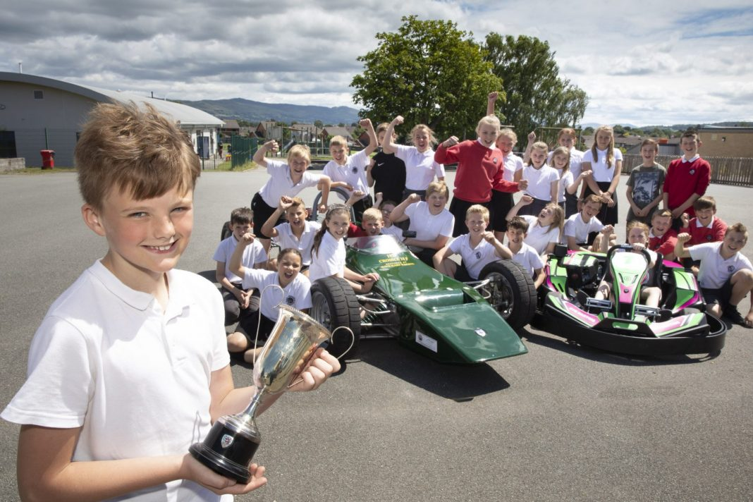F1 hero Tom inspires pupils at his old school in Denbigh