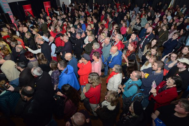 Hundreds of people turned out to hear the Labour party leader (Image: Adrian White)