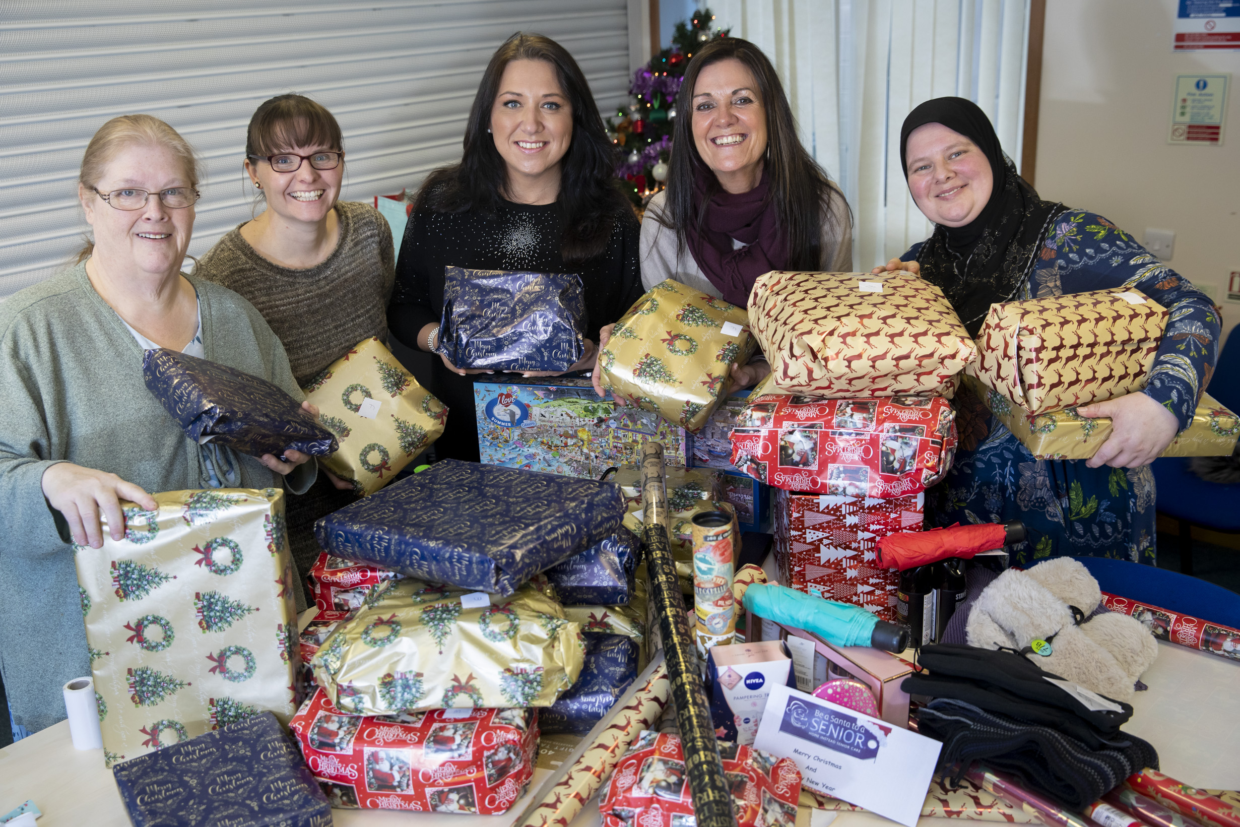 Christmas wrappers bring festive cheer to older people living alone